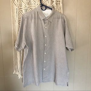 🍁Tasso Elba 100 linen button down short sleeve xl